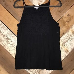Old Navy black tank with tribal pattern